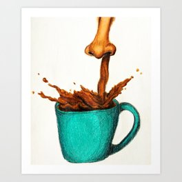 Wake Up And Smell The Coffee! Art Print