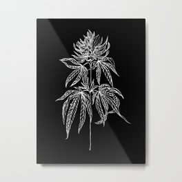 Reverse Cannabis Illustration Metal Print