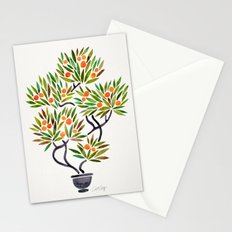 Bonsai Tree – Orange Fruit Stationery Cards