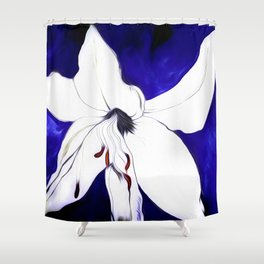 A Sketch Of A Lily Shower Curtain