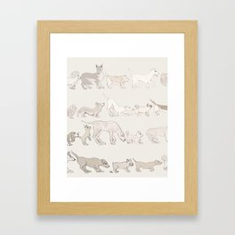 ButtSniff Framed Art Print