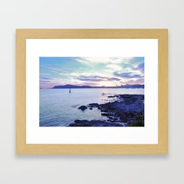 Sunset in Busan - South Korea Framed Art Print