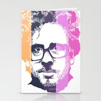 tim burton Stationery Cards featuring TIM BURTON IN COLORS by BURRO