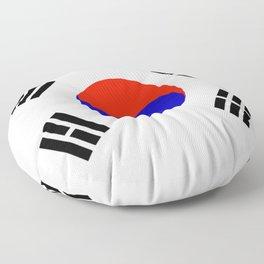 South Korean Flag Logo Floor Pillow