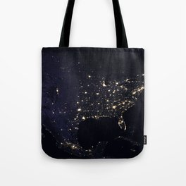 United States at Night Tote Bag