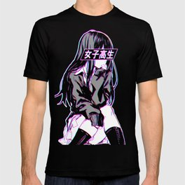 SCHOOLGIRL - Sad Japanese Anime Aesthetic T-shirt