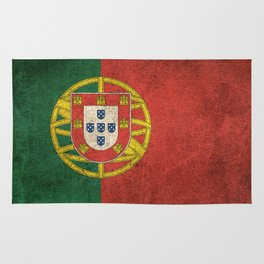 Old and Worn Distressed Vintage Flag of Portugal Rug