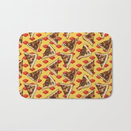 Vegemite on Toast Dreams in yellow and red Bath Mat