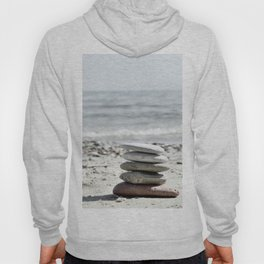 Balancing Stones On The Beach Hoody
