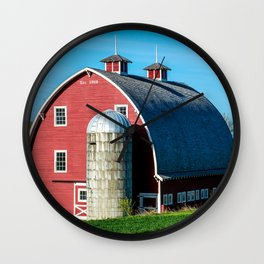 Historic Red Barn - Palouse Region - Washington Wall Clock