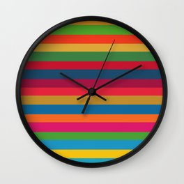 Color Stripes - horizontal - two Wall Clock