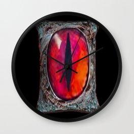 Eye of The Dragon Jewel in Black Wall Clock