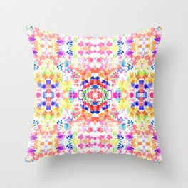 Floral Print - Brights Throw Pillow