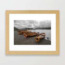 Boats at Derwent Water Framed Art Print