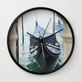 La gondola, Venice photography Wall Clock