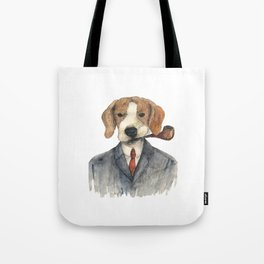 Monsieur Beagle Tote Bag