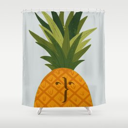 Not your typical pineapple Shower Curtain