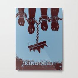 A Queen's Death Metal Print
