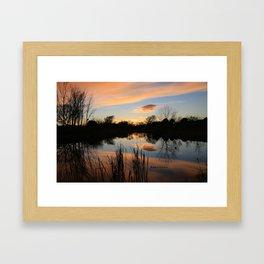 Sunset at Smith's Bird Sanctuary Framed Art Print