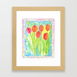 Be Bold Tulips Framed Art Print