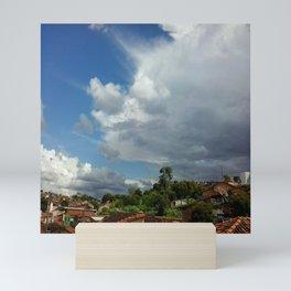 Antennas and Clouds Mini Art Print