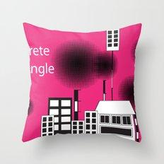 concrete jungle Throw Pillow
