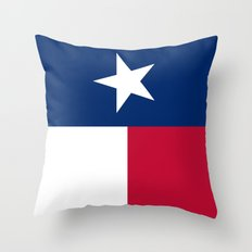 State flag of Texas (official vertical banner orientation) Throw Pillow