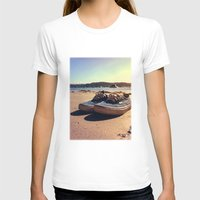 vans T-shirts featuring Beached Vans by Pretty In Palms Designs