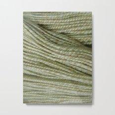Yellow, light green handspun yarn Metal Print