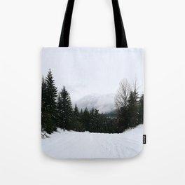 Mist between mountains Tote Bag