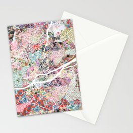 Nantes map Stationery Cards