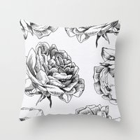 roses Throw Pillows featuring Roses  by Caitlin Workman