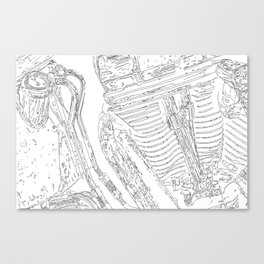cycle detail, drawing 3 Canvas Print