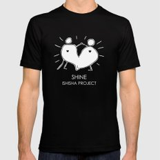 SHINE by ISHISHA PROJECT Mens Fitted Tee MEDIUM Black