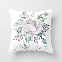 Happy Day – Pastel Rose. Throw Pillow