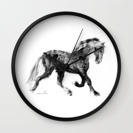 Horse (Friesian Colt) Wall Clock
