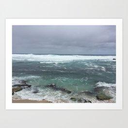 Moody Maui Art Print