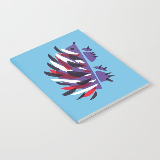 Colorful Abstract Hedgehog Notebook