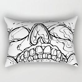 Carnibal / Ink Skull / Black Rectangular Pillow