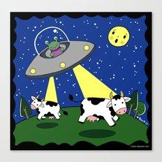 Cow Abduction! Canvas Print