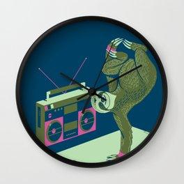 Breakdancing Sloth Wall Clock