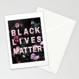 BLACK LIVES MATTER - roses Stationery Cards