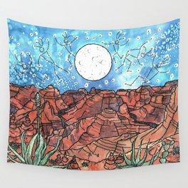 Starry Desert Dance Wall Tapestry