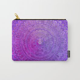 Mandala Flower in Violet Tones Carry-All Pouch