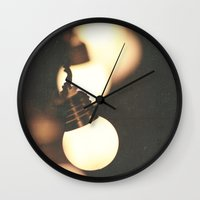 the lights Wall Clocks featuring Lights by Whitney Retter