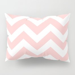 Light red - pink color - Zigzag Chevron Pattern Pillow Sham