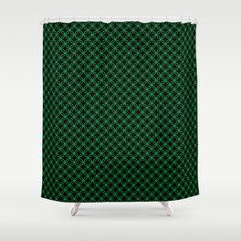 Interlocked Rings in Green Shower Curtain