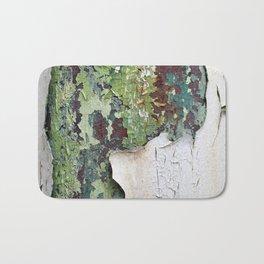 white green paint rust metal texture pattern Bath Mat