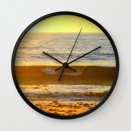 Golden Curl Wall Clock