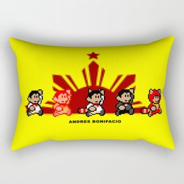 8-bit Andres Bonifacio 2 Rectangular Pillow